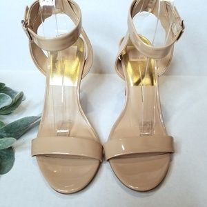 Dolce Vita New Nude Patent Open Toe Heels 9.5